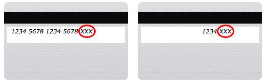 セキュリティコードの場所(カード裏面)